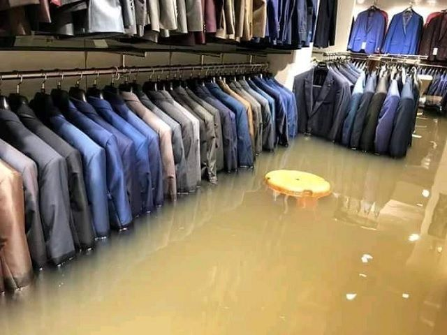 Water Inside the Showroom in Patna