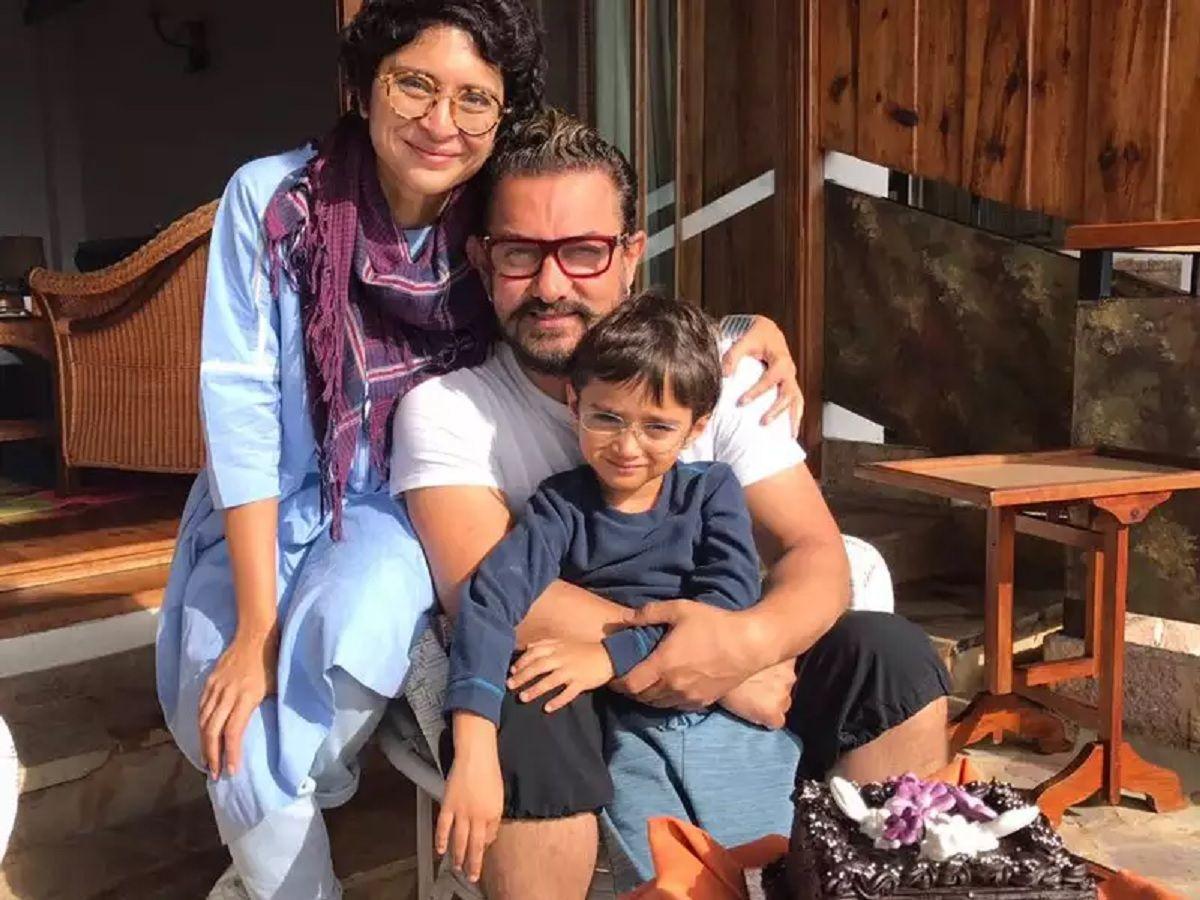 Aamir khan kiran Rao and Child