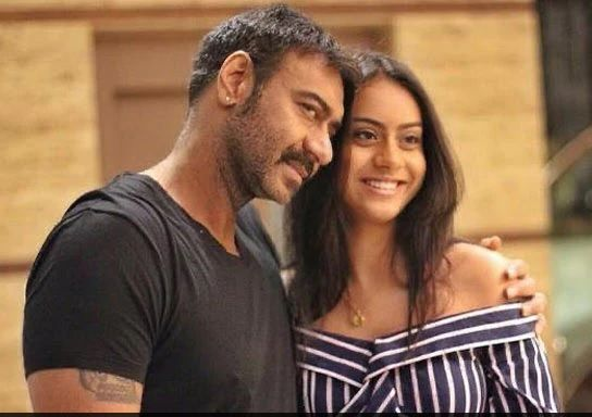 Ajay devgan and kajol with nysa