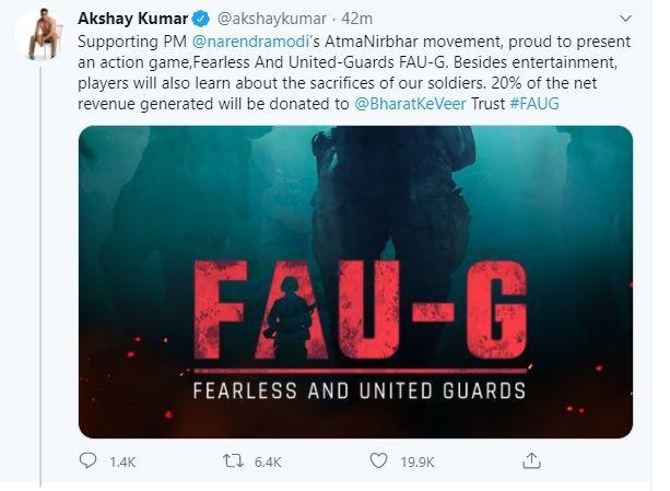 Akshay Kumar present FAU-G game