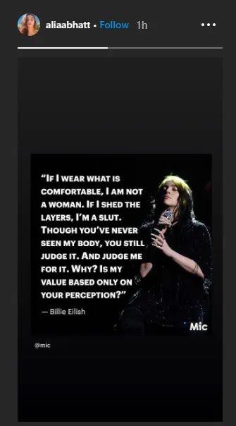 Alia Bhatt post on body Shaming