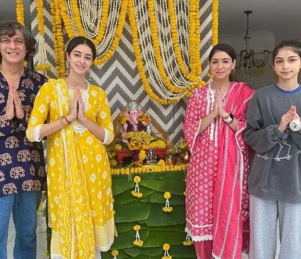 Ananya Pandey Ganesh Chaturthi celebration