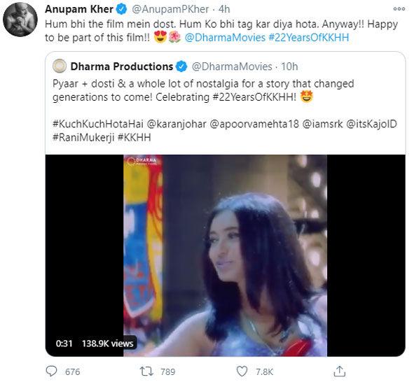 Anupam Kher Tweet