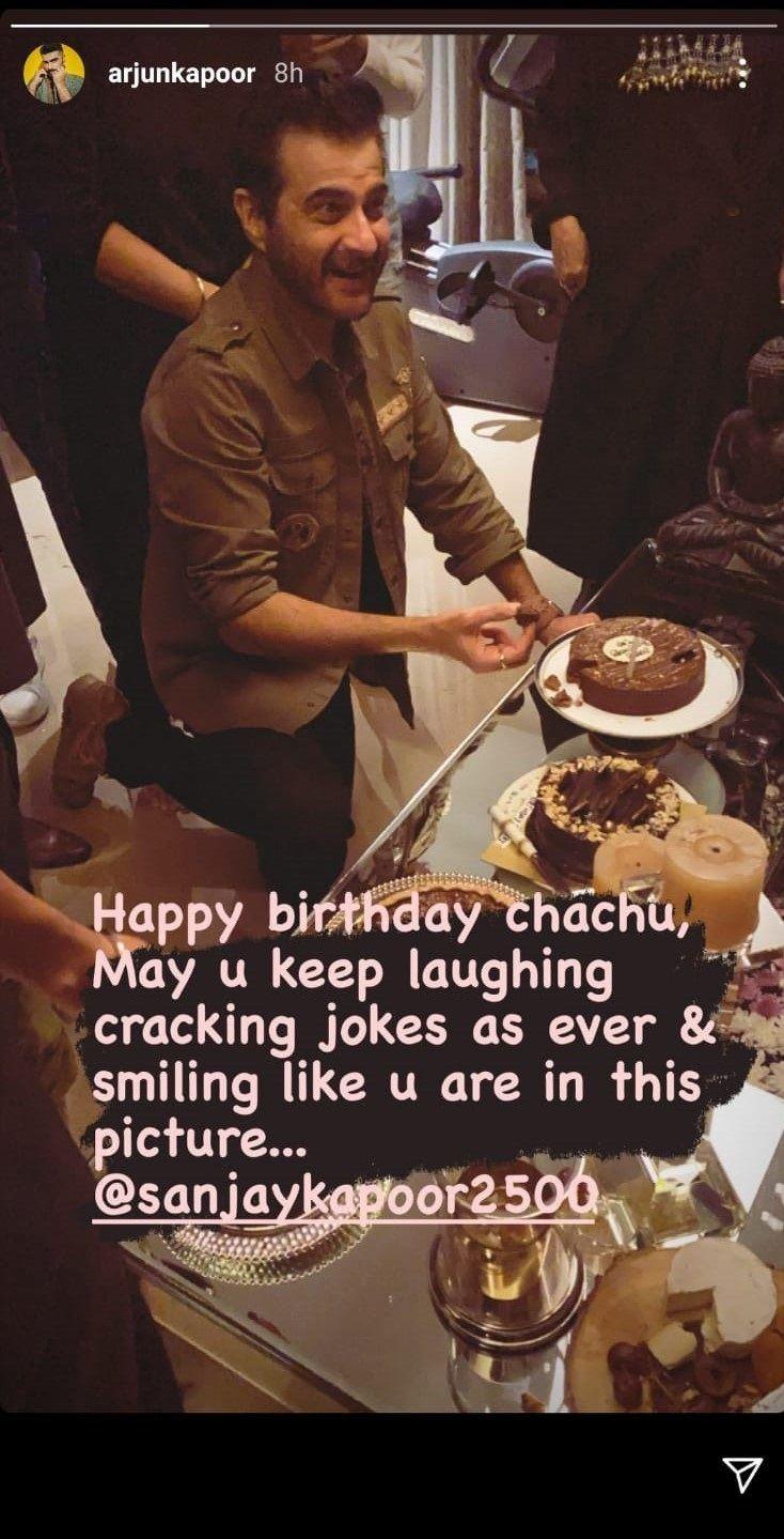 Arjun Kapoor Sanjay birthday Post