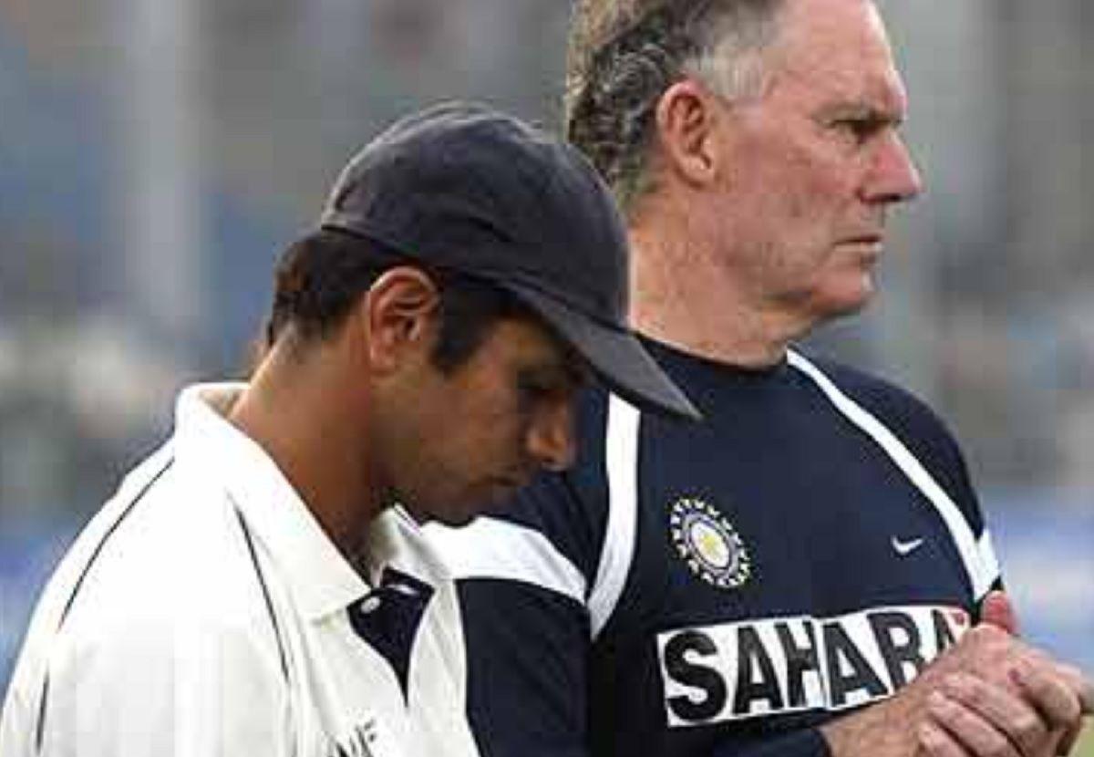 Rahul Dravid and Greg Chappell