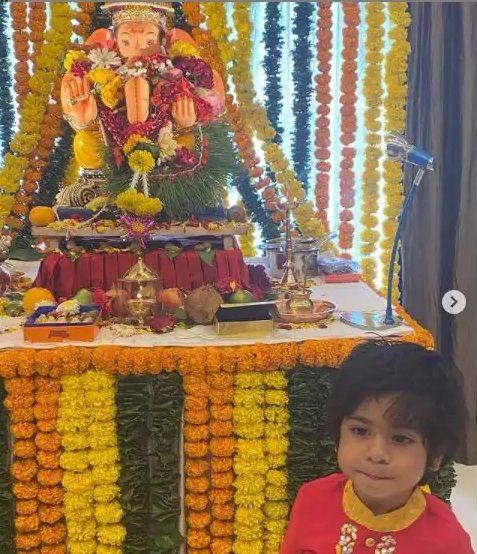Ekta kapoor son Ravie Kapoor Ganesh Chaturthi celebration