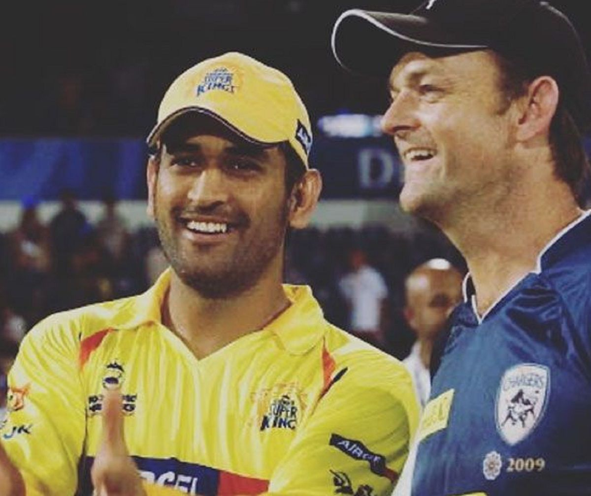 MS Dhoni with Adam Gilchrist