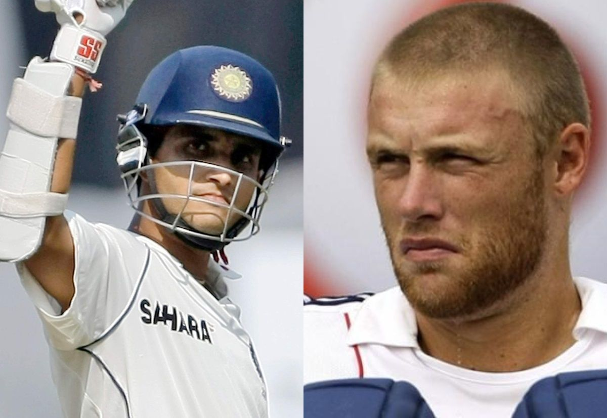 Sourav Ganguly and Andrew Flintoff