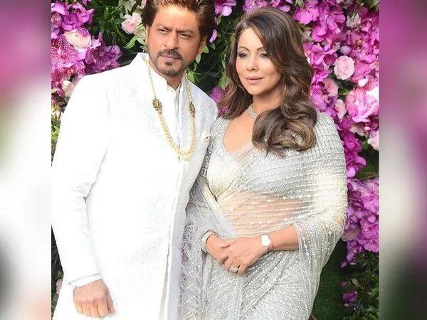 Gauri Khan with Shahrukh Khan