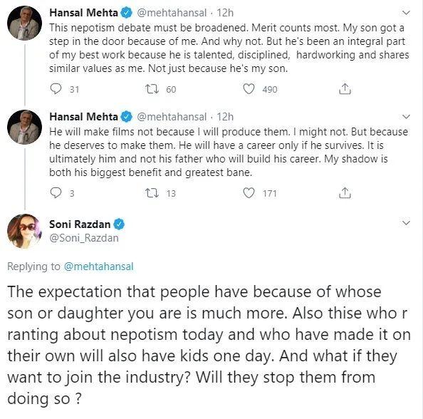 Hansal Mehta and Soni Razdan debate on Nepotism