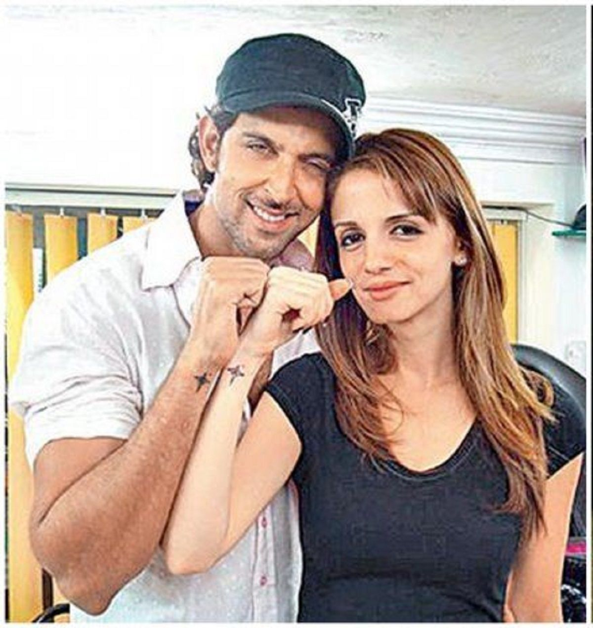 Hritik Roshan with wife