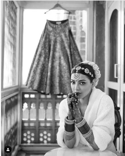 Kajal Agarwal wedding dress