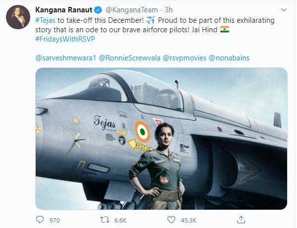 Kangna to play IAF pilot in Tejas film