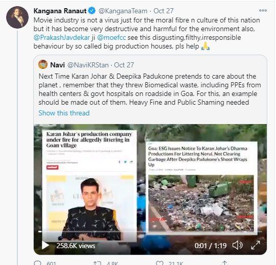 Karan Johar garbage dharma production goa