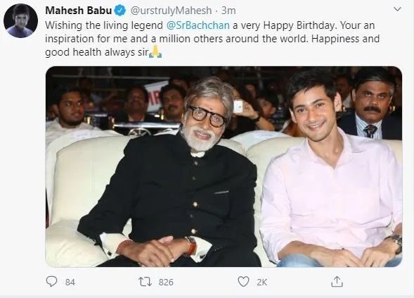 Mahesh wishes Big B