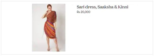 Mira Rajput B'day Sari dress price