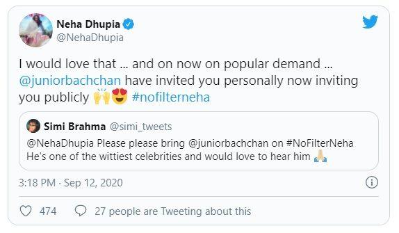 Neha Dhupia and Abhishek Bachchan
