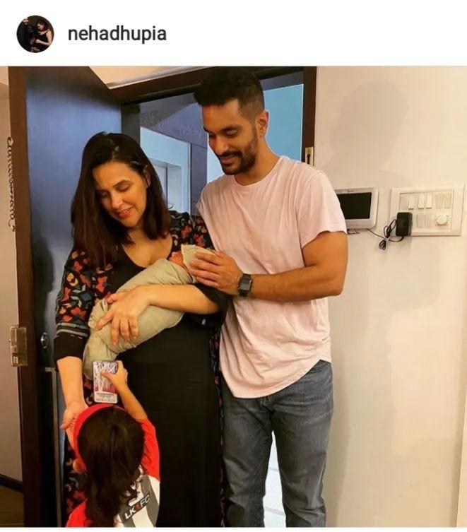 Neha Dhupia with son