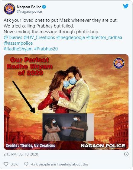 Prabhas Radhe shyam funny poster by police