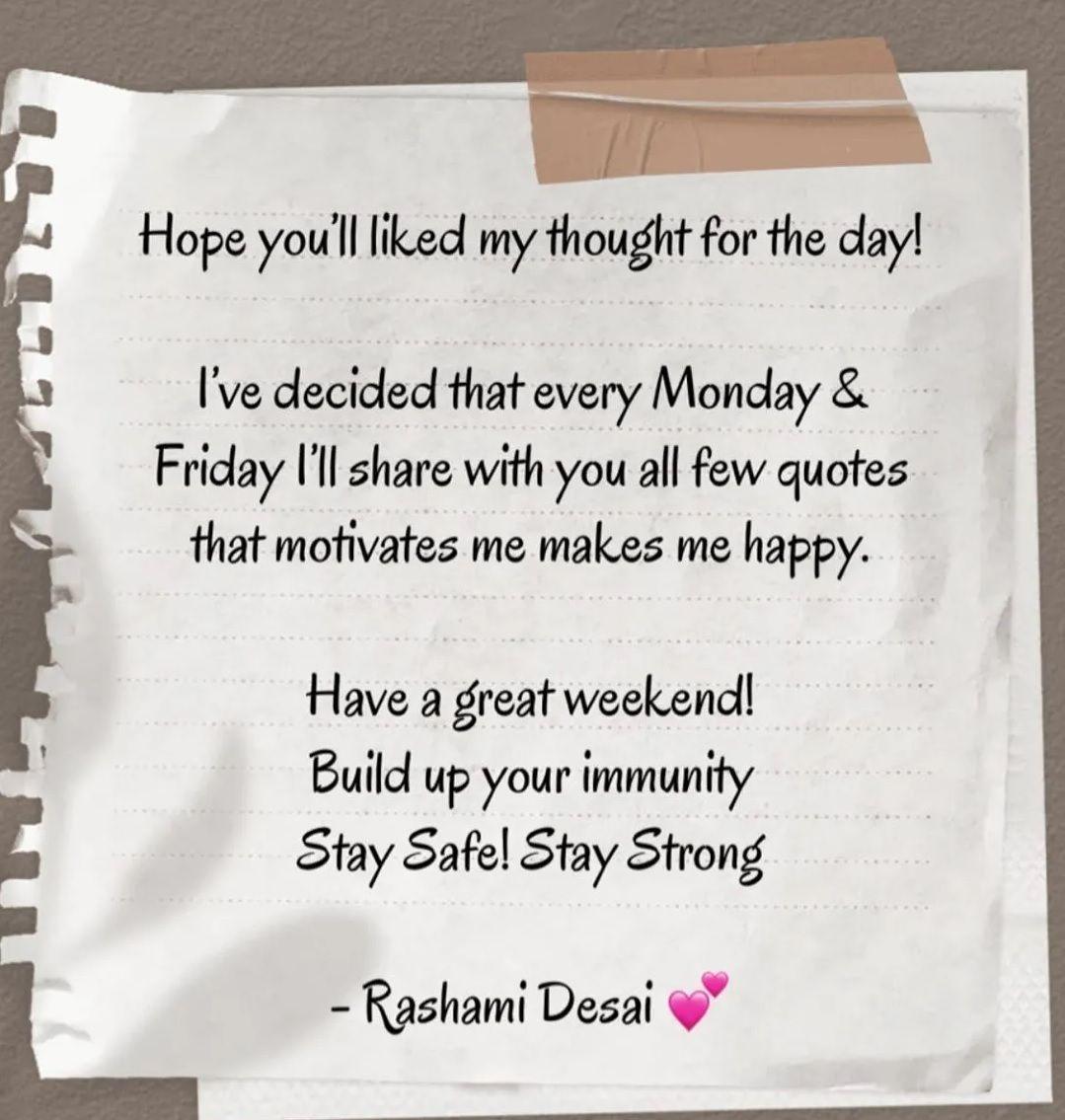 Rashmi Desai Post