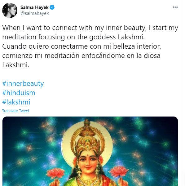 Salma Hayek Tweet