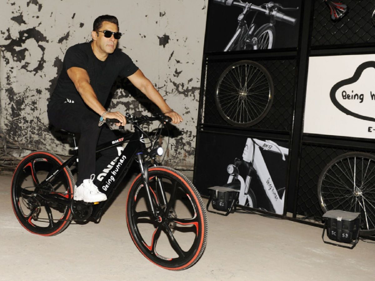 Salman Khan on Bicycle