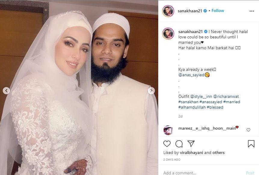 Sana Khan with husband Mufti