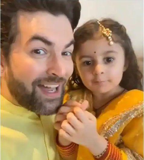 Star kid Nurvi Neil Mukesh Ganesh Chaturthi celebration