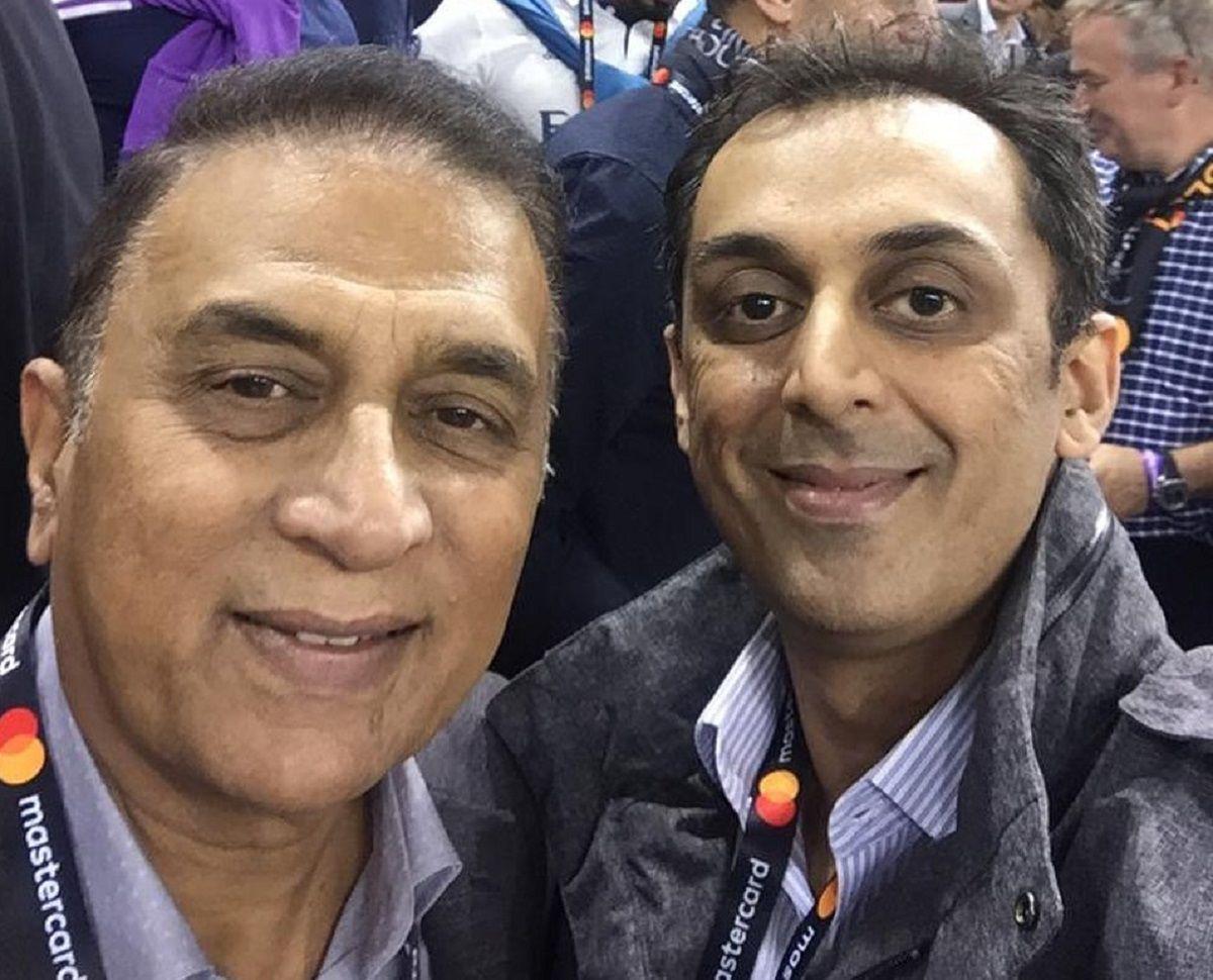 Sunil Gavaskar with son Rohan Gavaskar