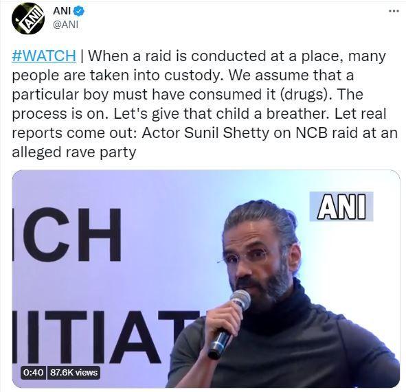 Sunil Shetty NCB