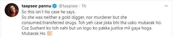 Taapsee reaction on Rhea arrest