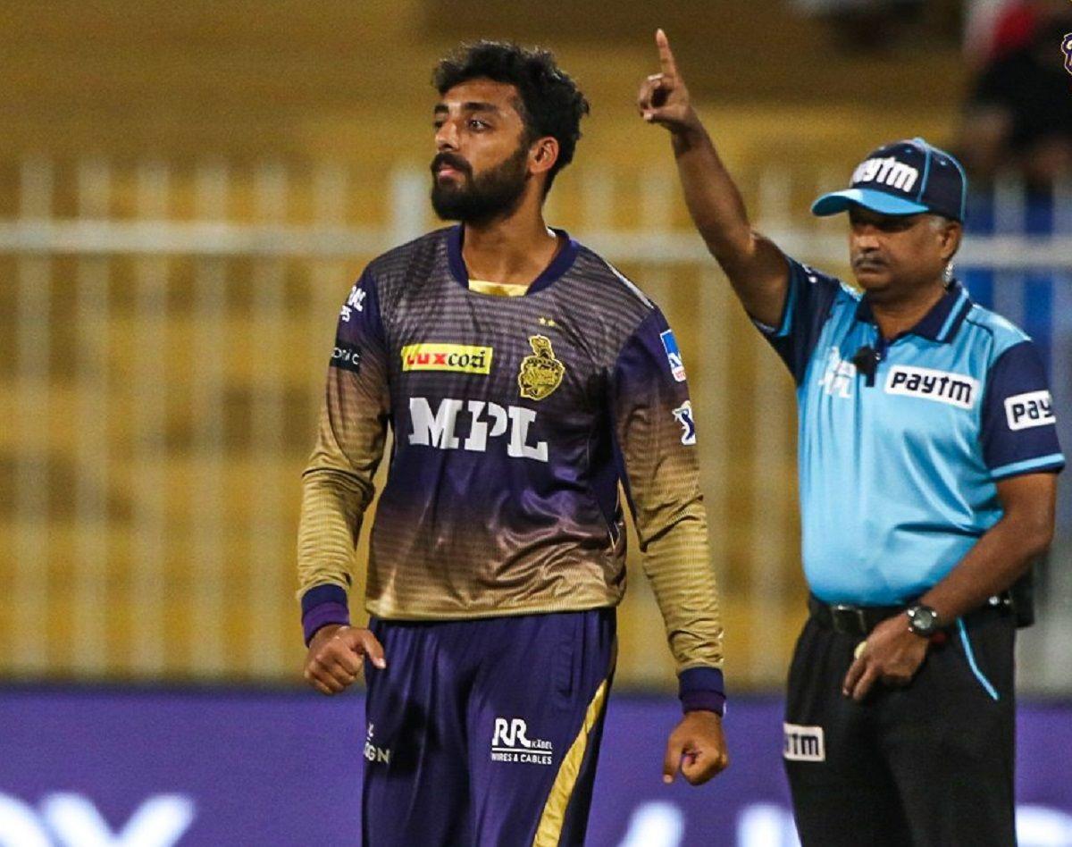Varun Chakravarthy against Delhi Capitals
