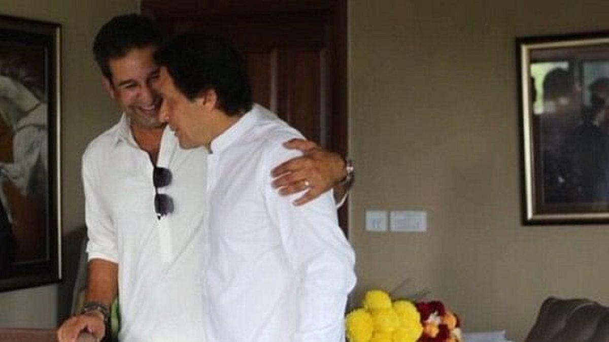 Wasim Akram and Imran Khan