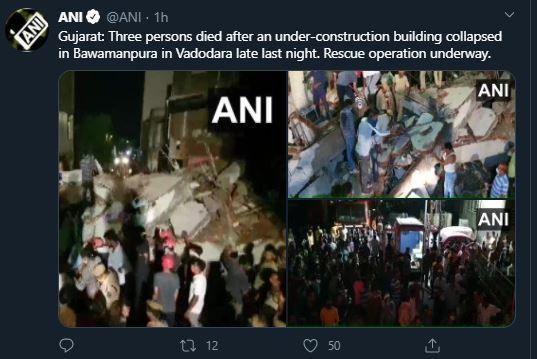 building collapsed in Bawamanpura in Vadodara