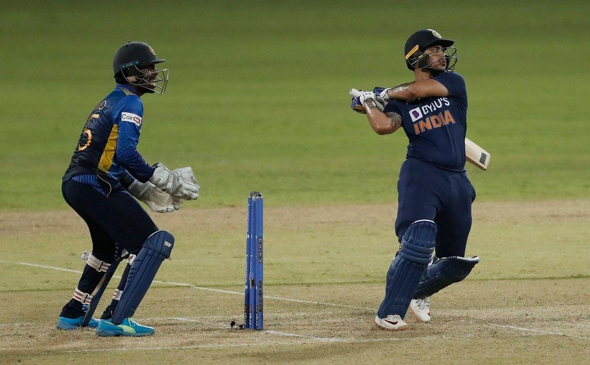 Ishan Kishan against Sri Lanka on ODI debut