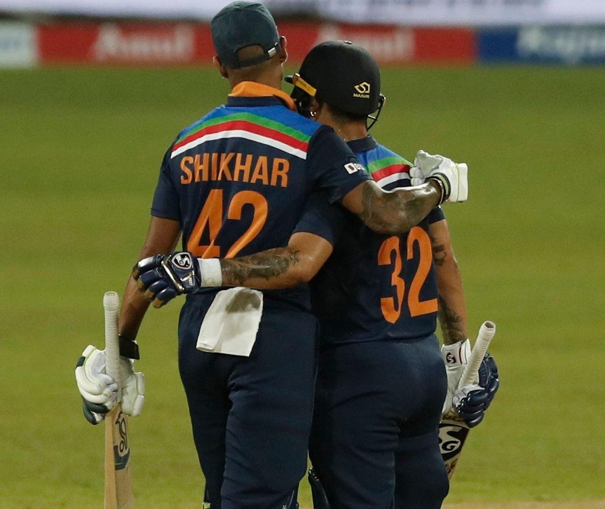 Ishan Kishan with Shikhar Dhawan
