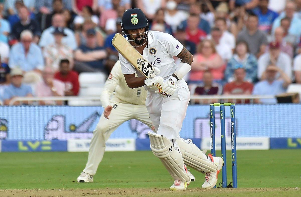 KL Rahul batting in Nottingham test