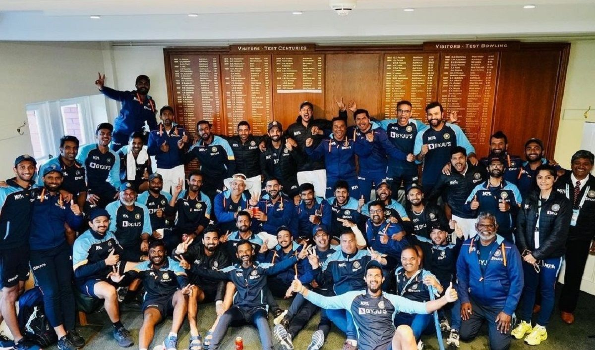 Indian cricket team celebration in Lord's dressing room