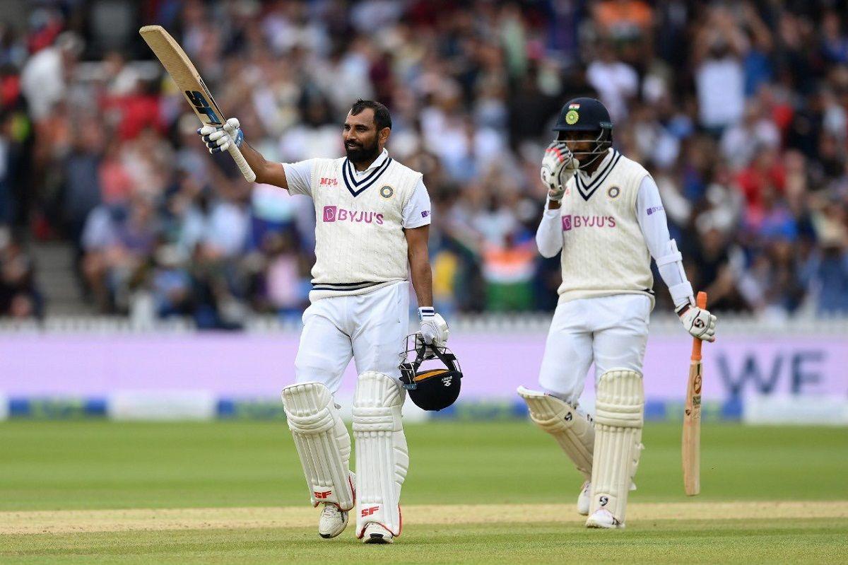 Mohammed Shami batting at lords