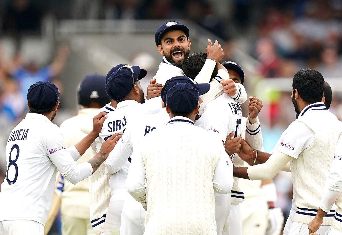 Virat Kohli winning celebration