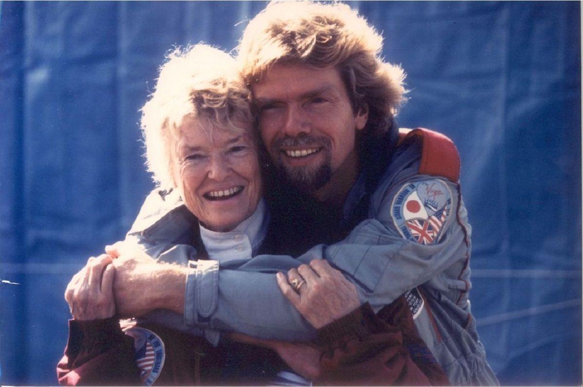 Richard Branson with mother Eve Branson