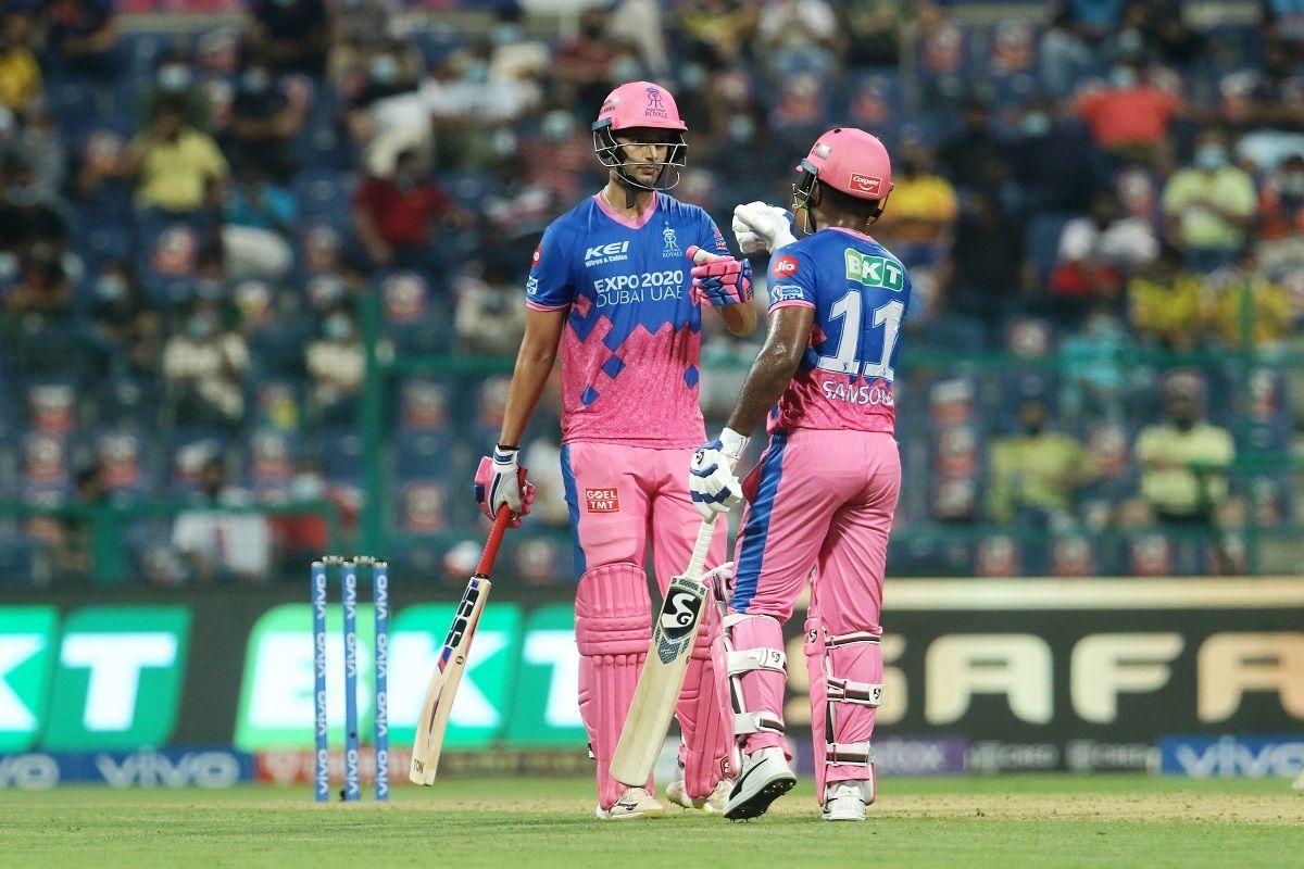 Shivam Dubey and Sanju Samson against CSK in IPL 2021