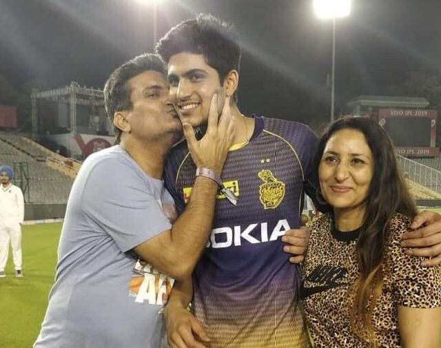 Shubman Gill with family