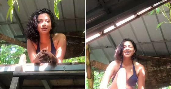 Amala Paul bikini pics: बिकिनी फोटोज से छाईं साउथ की एक्ट्रेस अमला पॉल,  पर्दे पर दे