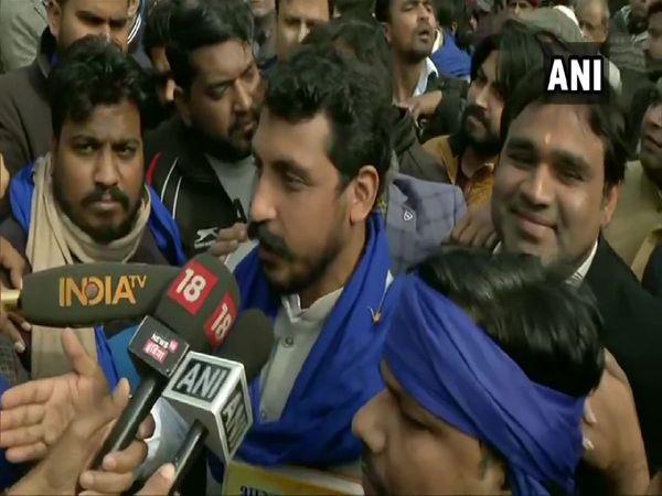 Bhim Army chief Chandrashekhar Azad reached Jama Masjid for protest against CAA