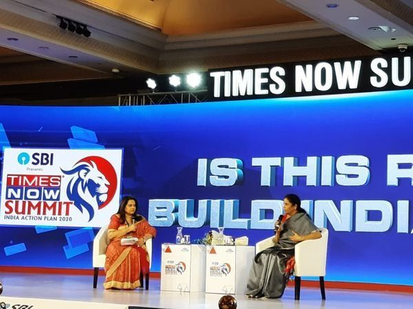 FM Sitharaman at Times Now Summit