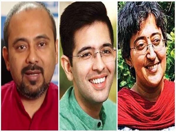 AAP Candidate List : Raghav Chadda Atishi and Dilip Pandey given ticket, लोकसभा में हारे राघव चड्ढा, आतिशी और दिलीप पांडे को मिला टिकट
