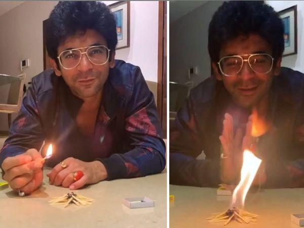 Sunil Grover Celebrate Lohri In Mumbai With unique way watch video