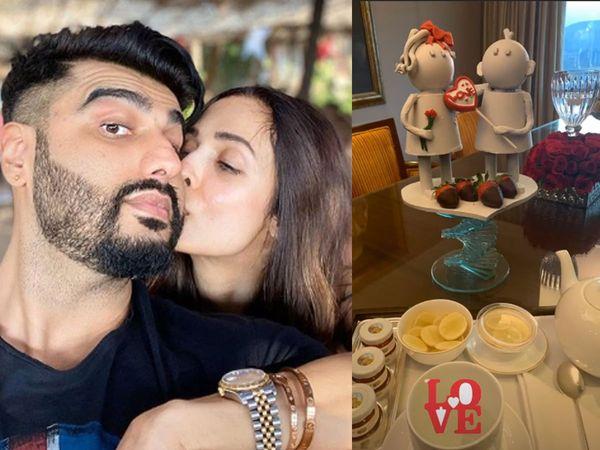 Malaika Arora and Arjun Kapoor Celebrate Valentines Day