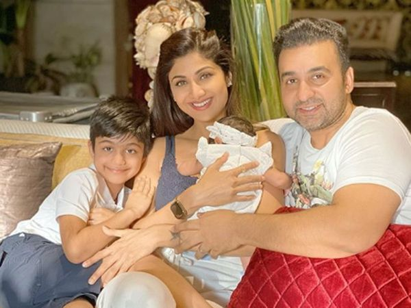 Shilpa Shetty with her Family
